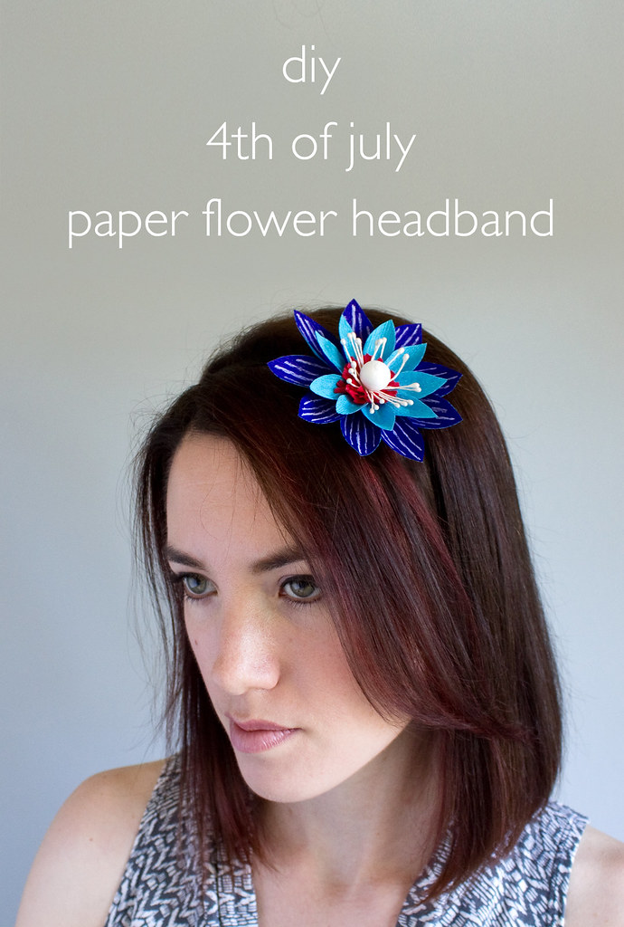 DIY 4th of July Paper Flower Headband | click through for the tutorial!