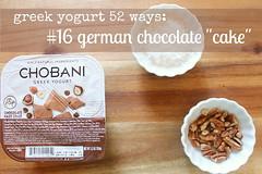 "greek yogurt 52 ways: no. 16 german chocolate ""cake"""