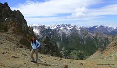 Carrie ascending Roundup Peak