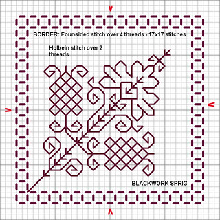 blackwork sprig chart