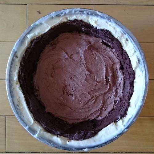 Banana Split Bombe, Chocolate Ice Cream layer