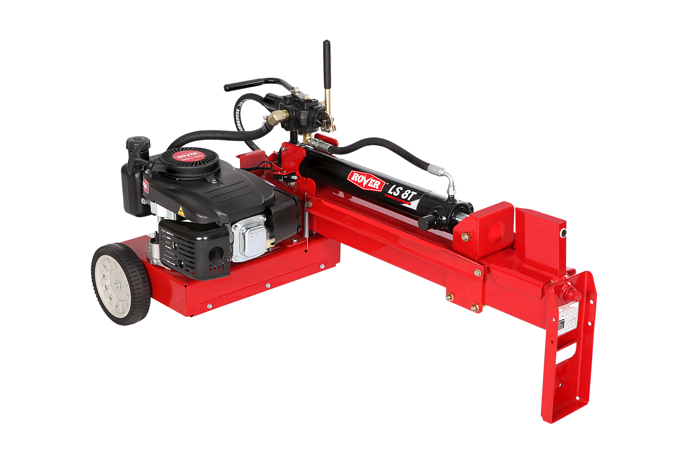 The 8 Ton Log Splitter has a 123cc Rover engine and a ram pressure suited to smaller logs