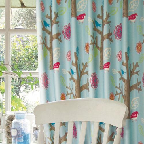 雀在林梢(獨家復刻) 童趣動物 半遮光仿麻窗簾布 DA1190042