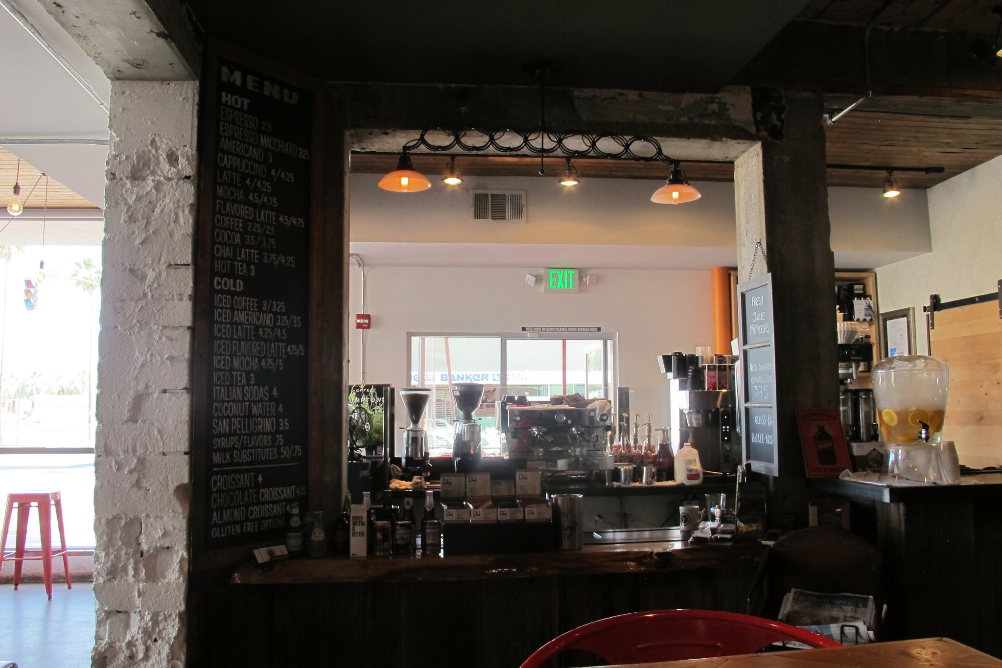 Ernest Coffee Co. interior