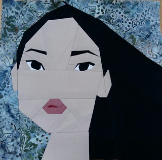 Pocahontas. Paper pieced. Fandom in Stitches