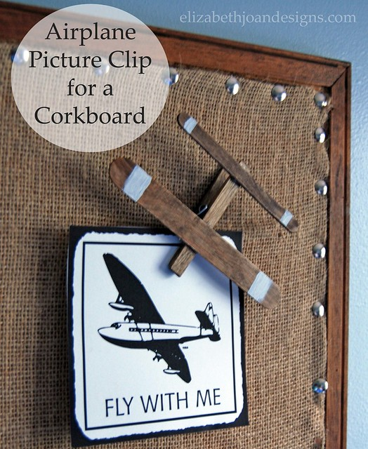 Airplane Picture Clips for a Corkboard