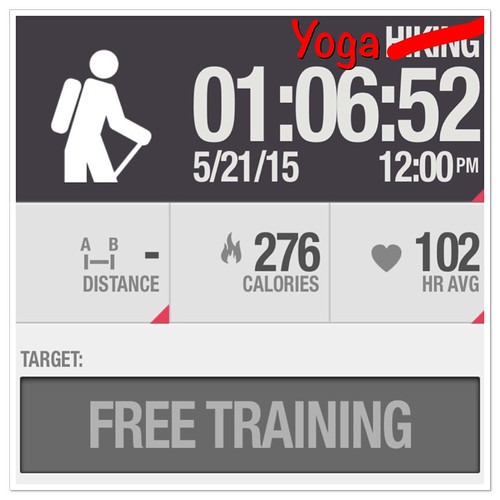 Yoga workout #polarbeat