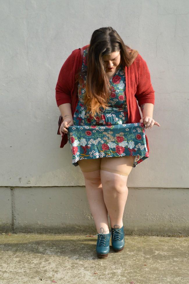 Outfit giorato e rosso (5)