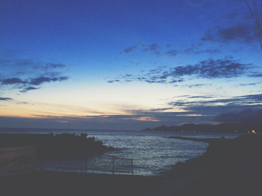 名護 名護湾の夕陽