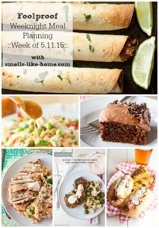 Foolproof Weeknight Meal Planning - Week of 5.11.15