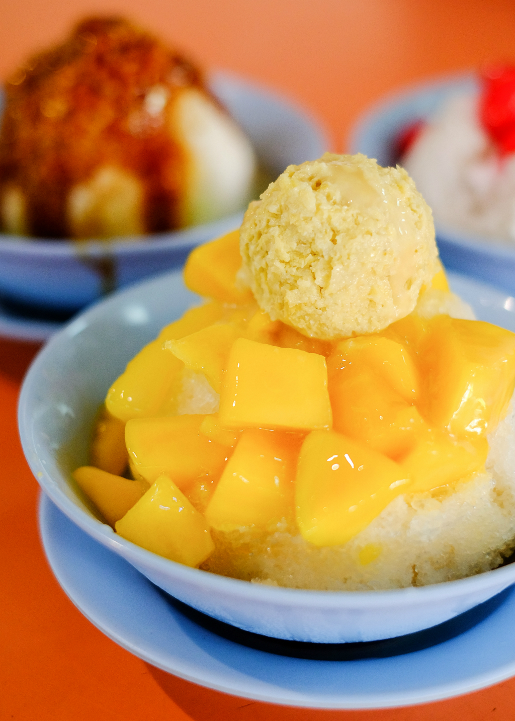 Jin Jin Hot/Cold Dessert: Durian/Mango Ice