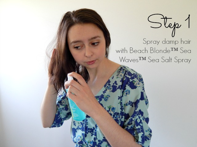 How to Get Beachy Hair Away from the Beach Using John Frieda Beach Blonde!