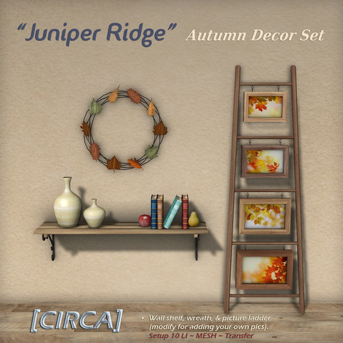 "@ SWANK ~ [CIRCA] - ""Juniper Ridge"" - Autumn Decor Set"