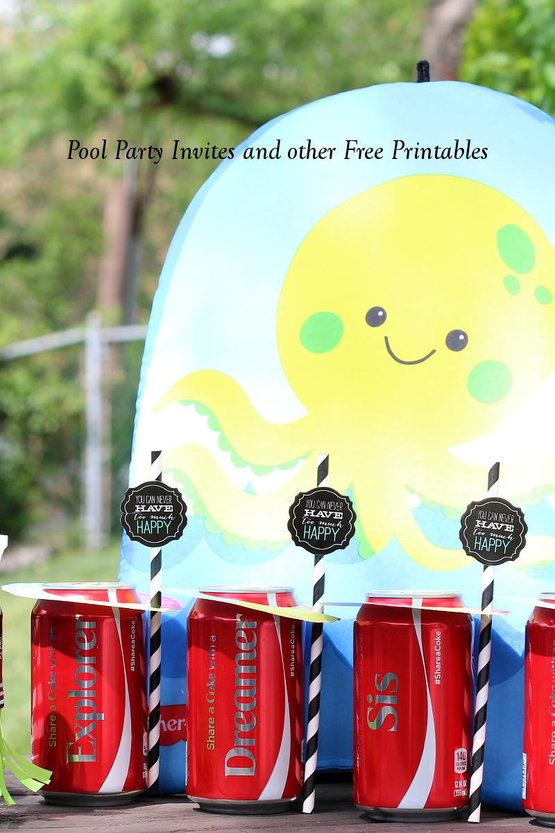 Make Pool Party Fun with Cute Invitations and Free Printables - My ...