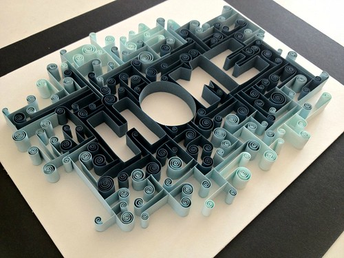 Quilled Typography by Ashley Chiang - Home