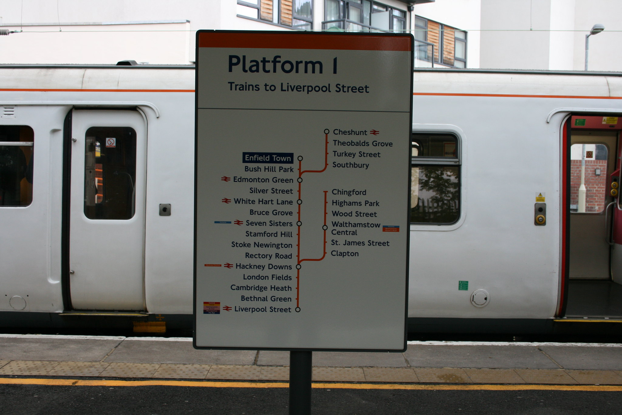 Enfield Town Overground Enfield Town Line Diagram