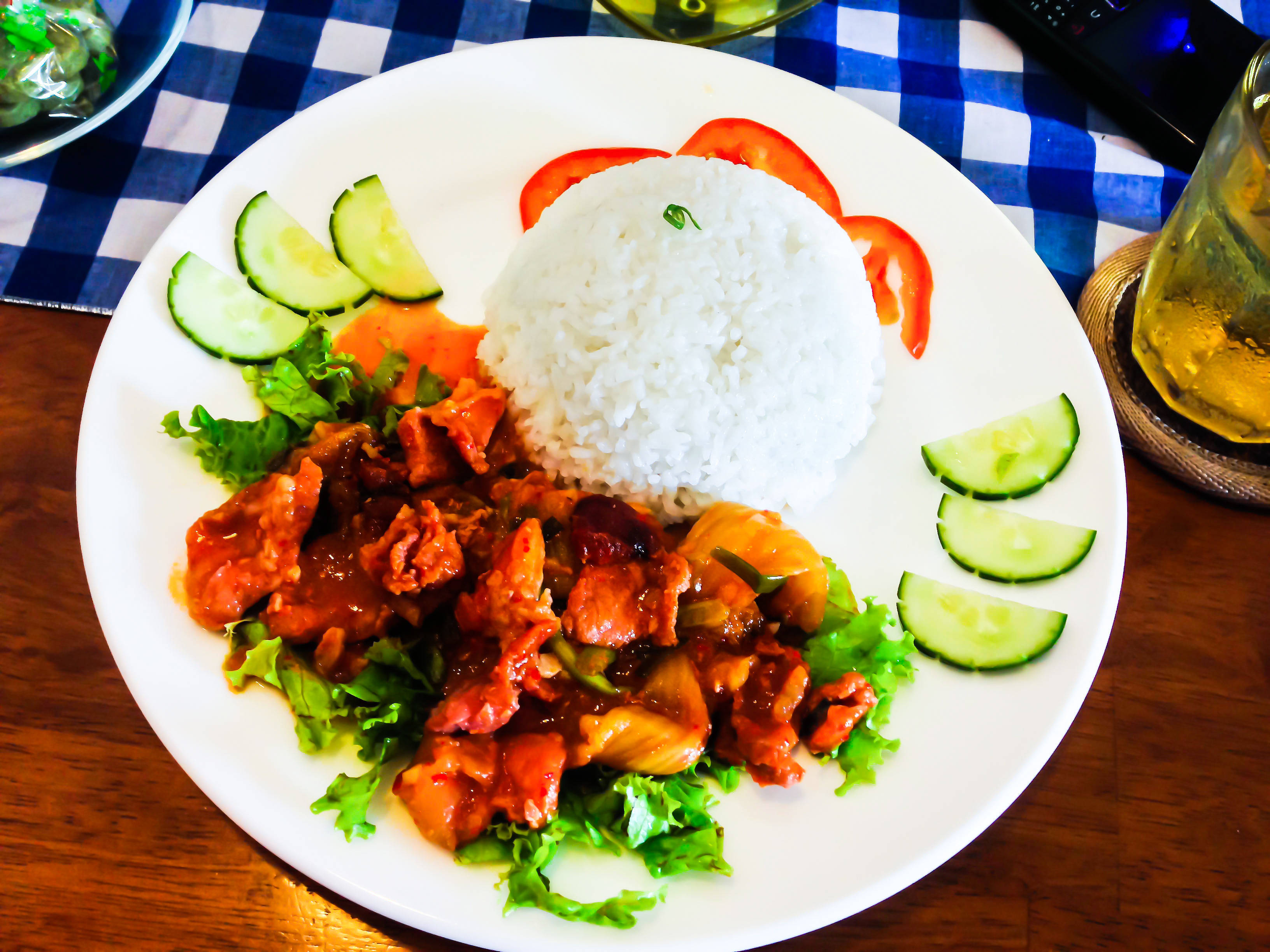 stir-fried pork with Kim Chi