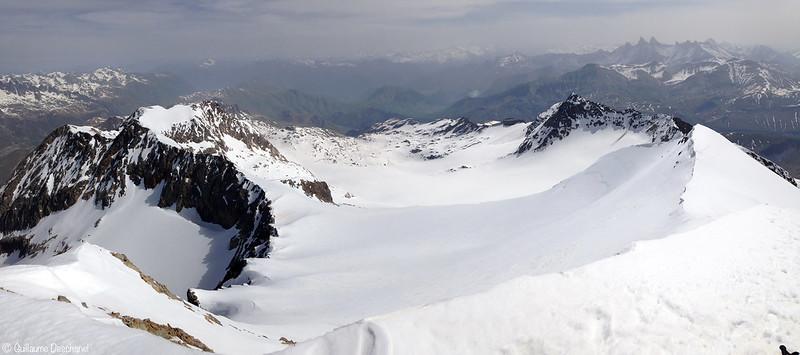 Panoramique depuis le sommet de l'Etendard