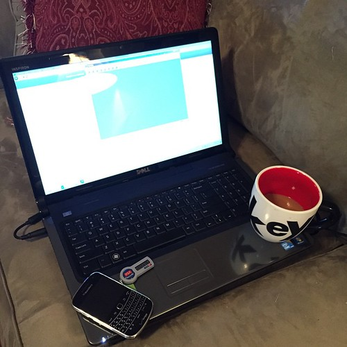 """146:365 Thanks to the storms last night, here's my """"office"""" for the day."""