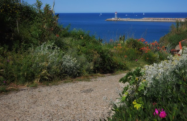 The small lighthouse in Port-Vendres, Sud de France
