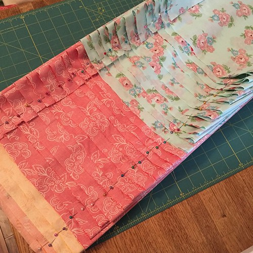 144:365 Assembly line sewing 13 grocery sacks. #michellepatterns