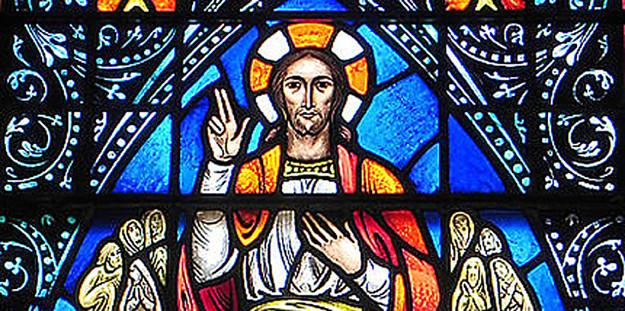 Cristo Pantocrator vidriera