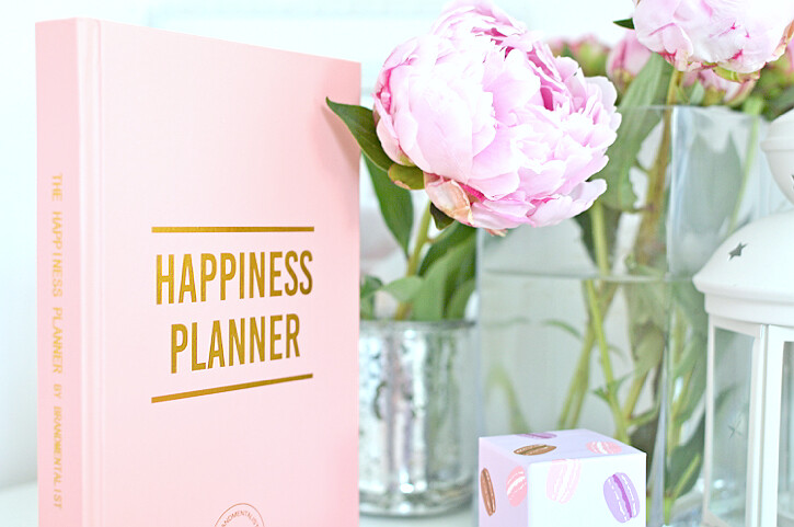happiness planner peonies