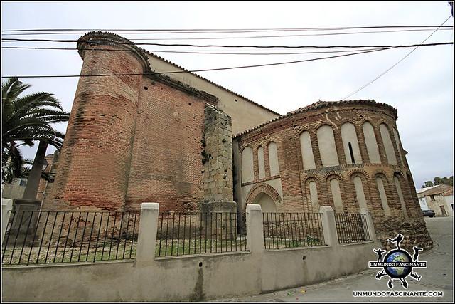 Ábside e Iglesia de N. Señora de la Asunción, Galisteo, Cáceres, Extremadura. España. Spain.