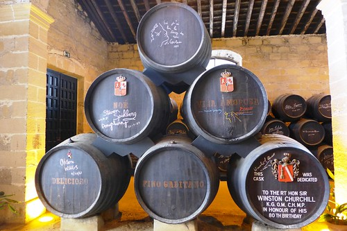 Signed Barrels at Gonzalez Byass