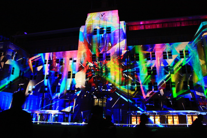 Light projection at MCA