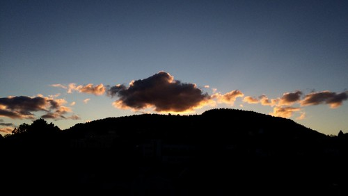 Sunset clouds in Drammen