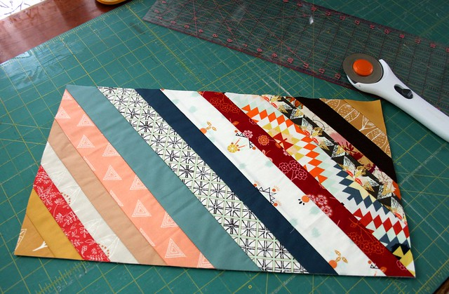 New Diamond Strings Quilt -- block