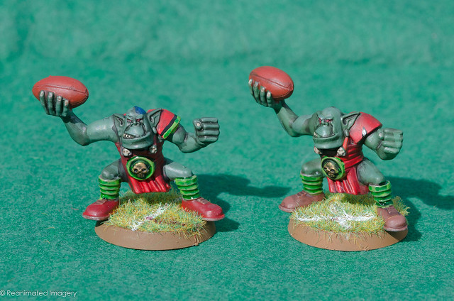 Bloodbowl Orc Team Throwers