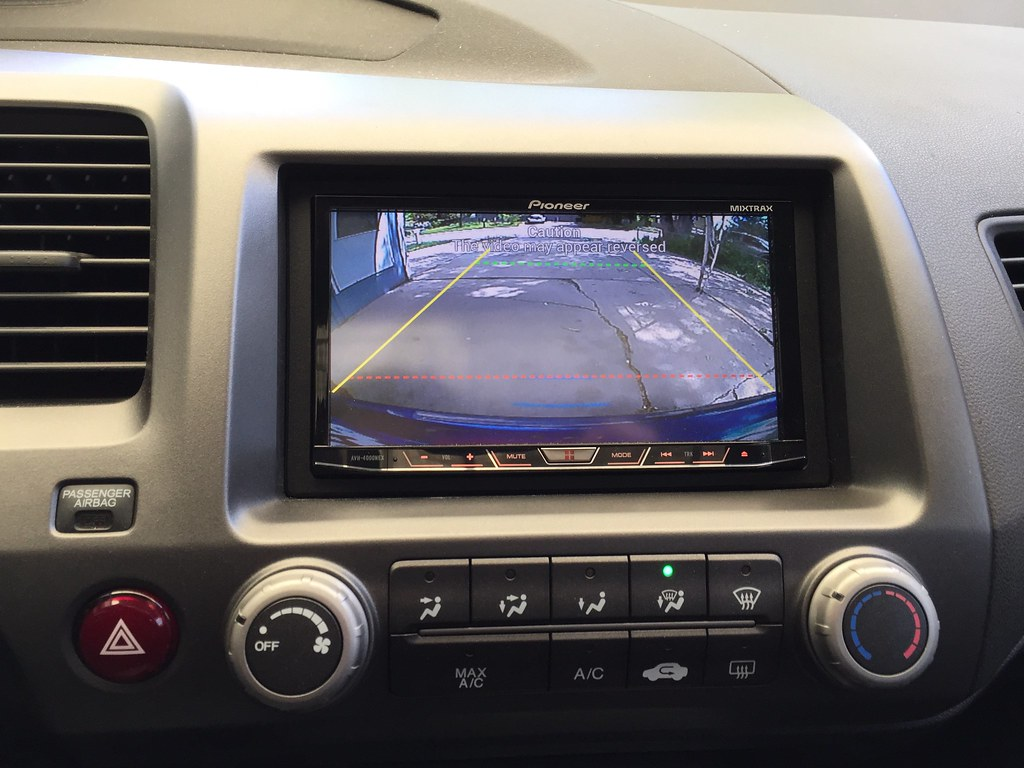 Backup camera install on 2008 Si sedan - Rydeen Duo ZH07 ...