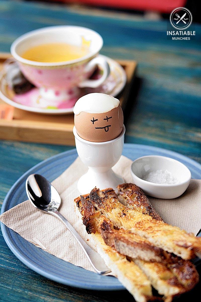 Review of Tartine, Mascot - tartine soldiers, coddled eggs