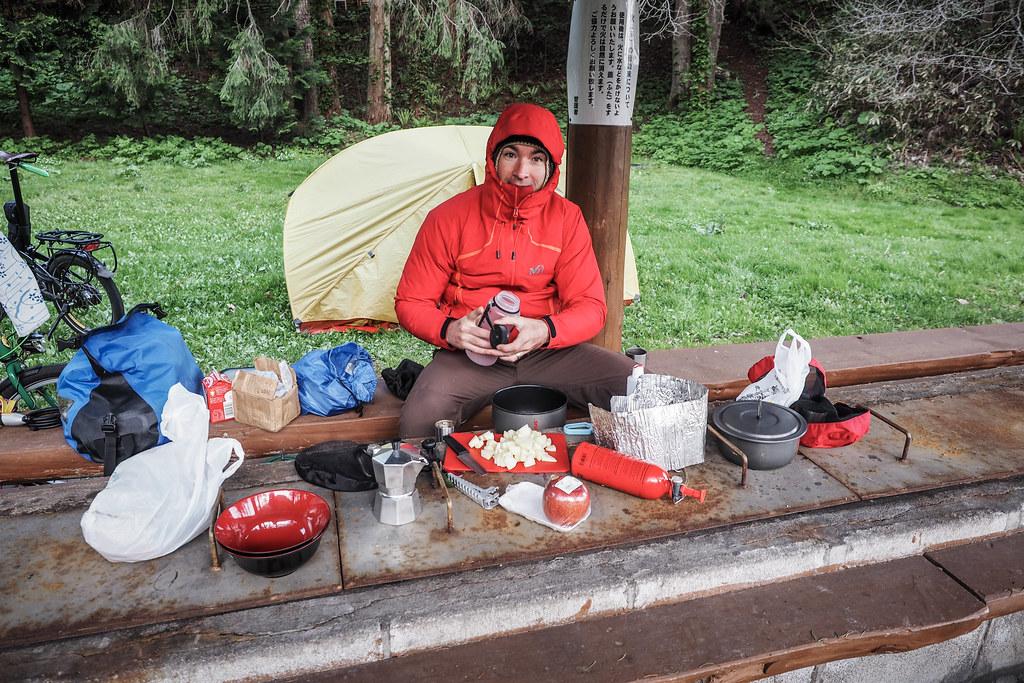 A chilly campsite in Assabu, Hokkaido, Japan