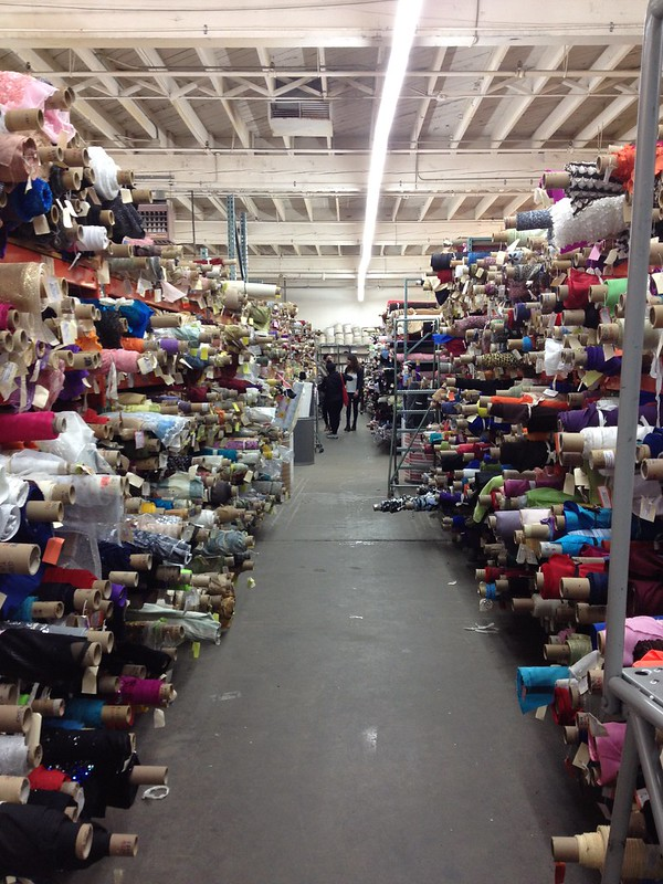 Discount Fabric store in San Francisco.
