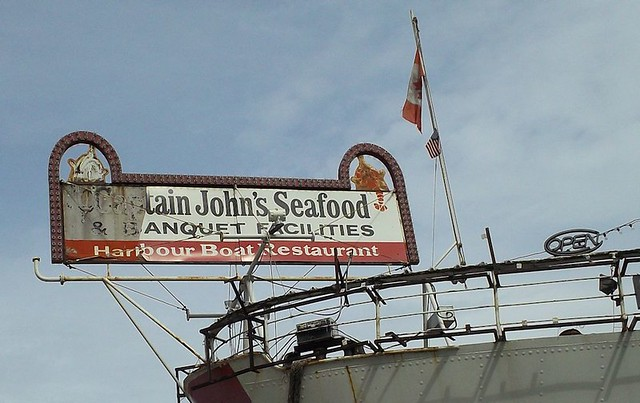 Captain John's Restaurant Toronto Sign 2015