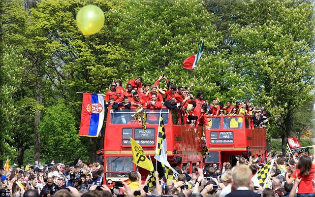 Watford celebrate promotion