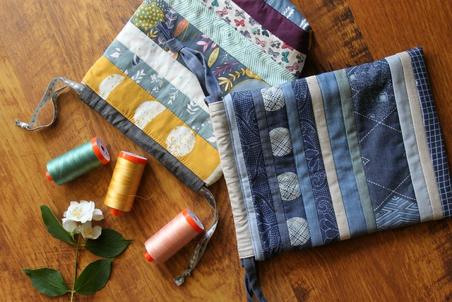 Summer Pouches from Scraps