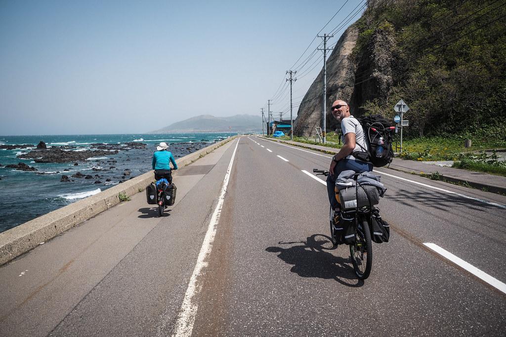 Route 229 around the Japan Sea coast, Hokkaido, Japan