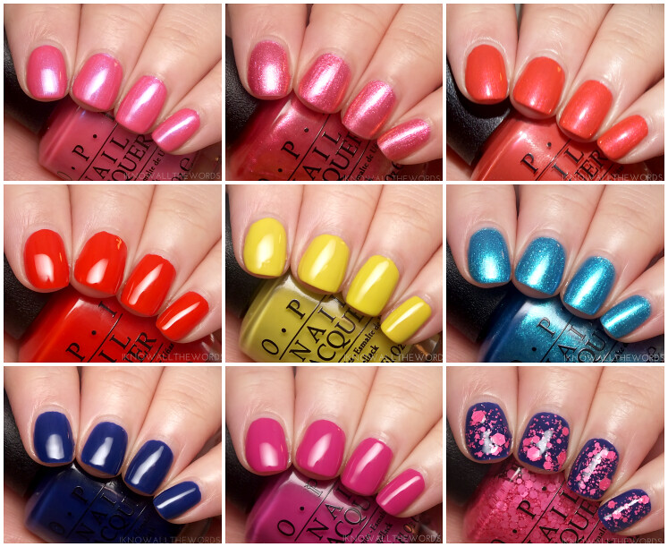 brights by opi 2015 collage