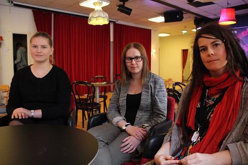 Klara Lundberg, Elin Rödin och Frida Nyström