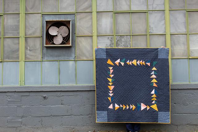 Umbrella Prints Trimmings Quilt