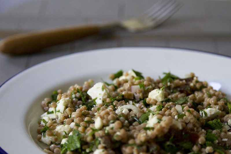couscous salad with fresh herbs, feta, and apricots | reading my tea leaves