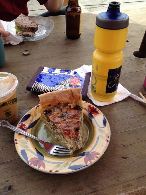 Quiche and cold brew