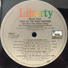O.S.T.:TALES OF THE PINK PNATHER(LABEL SIDE-B)
