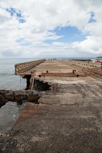 Mala Wharf in Ruins