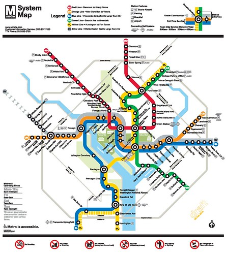 WMATA map with the Silver Line