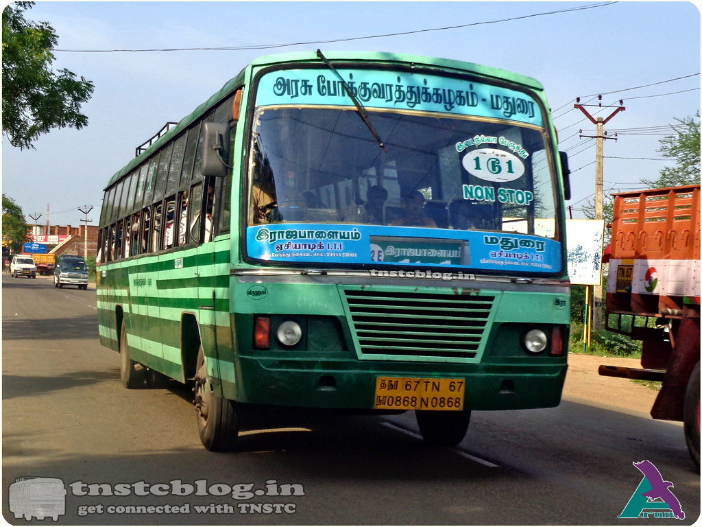 TN-67N-0868 of Rajapalayam Depot 1 to 1 NonStop Rajapalayam - Madurai